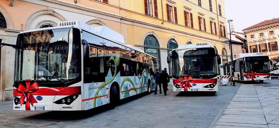 Ônibus elétrico BYD na Itália