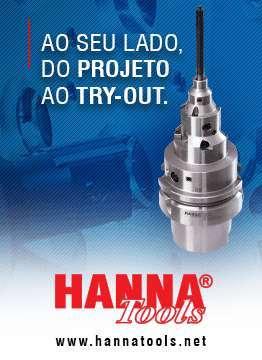 Hanna, ao seu lado do produto ao try-out