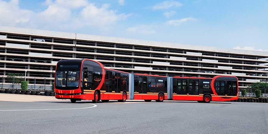 O BYD K12A, o maior ônibus 100% elétrico do mundo