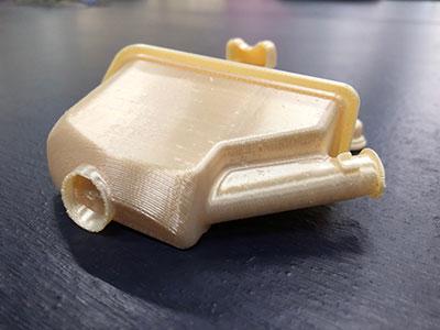 Protótipo de câmara de sucção impressa em 3D na Embraco