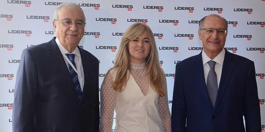 José Roberto Maluf, Cecilia Luchía-Puig e Geraldo Alckmin no Terceiro Seminário Internacional Líderes