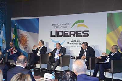 Painel 1 - Economia - Agostinho Turbian, Fernando Honorato, Milton Santos, Luis Roberto Troster e José Roberto Maluf | Terceiro Seminário Internacional Líderes