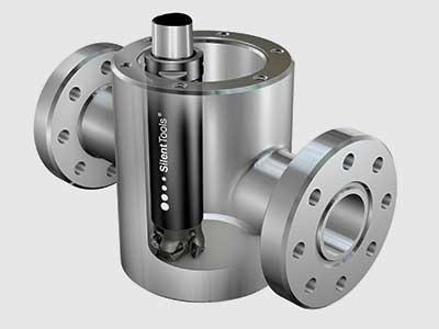 Válvula petrolífera – exemplo de componente típico para uso da CoroMill® 390 Lightweight com Silent Tools™