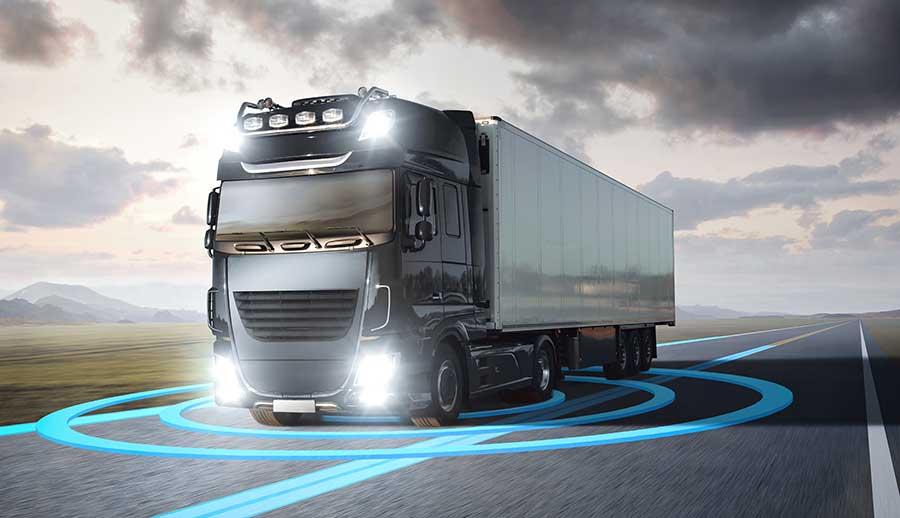 Caminhões autônomos: veículos conduzidos por inteligência artificial podem realizar viagens duas vezes mais longas.