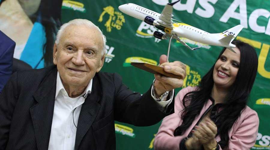 Em São José do Rio Preto, o Engenheiro Ozires Silva homenageado pela Deputada Leticia Aguiar