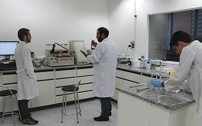 Laboratório do MackGraphe durante pesquisas realizadas no projeto